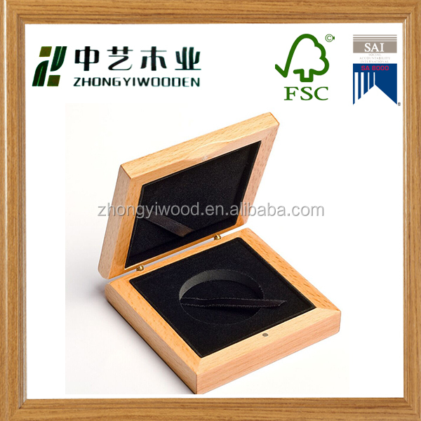 Hot sale eco- friendly high end handmade wooden coin box for coin storage