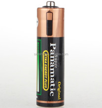 Panamatic shrink wrap R6 SIZE UM3 aa batteries 1.5v Battery Zinc Carbon (black)for remote control