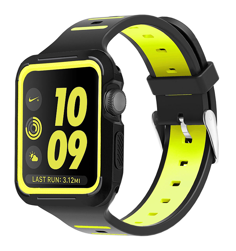 Rubber Silicone Wrist Smart Watch band Strap For Apple Watch 38mm 42mm