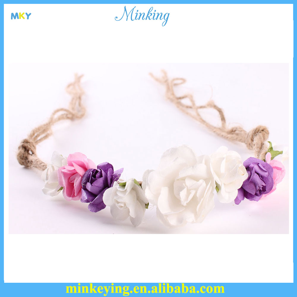Ribbon Baby Hair Bands Supplies Flower Baby Head Bands