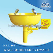 Emergency wall mounted eyewash station