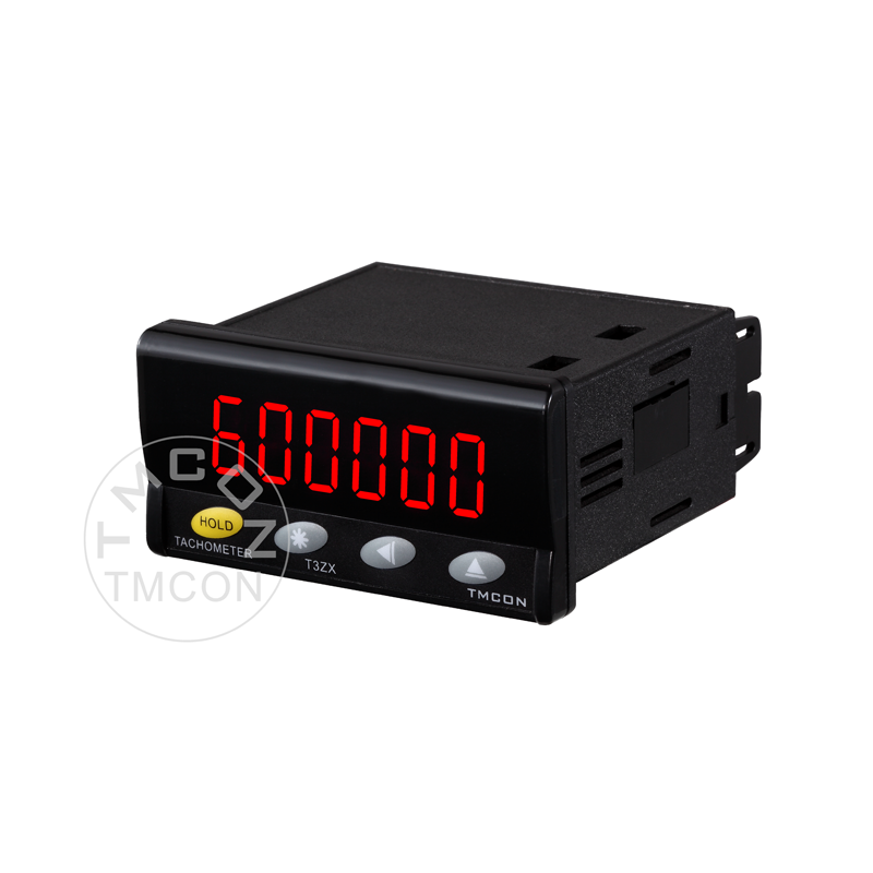 T3ZX panel 36*72mm linear speed Pulse frequency meter Digital Tachometer with Alarm Relay Output