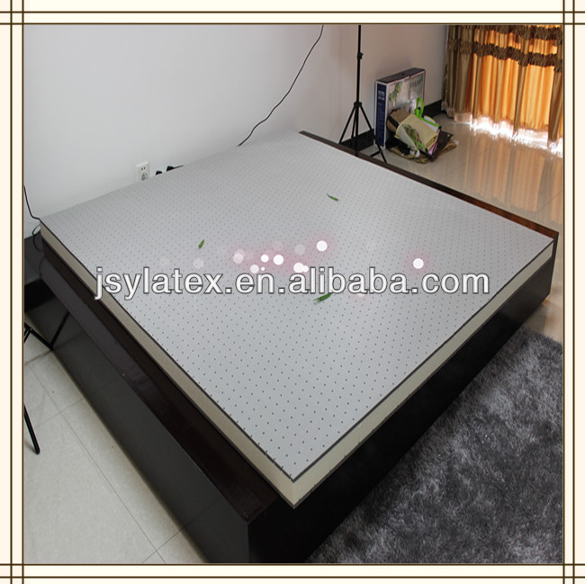 High quality bedroom furniture bamboo pillow top pocket spring mattress with elegant fiber cover