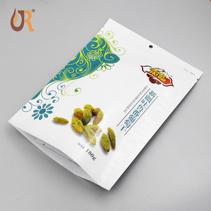 Stand up zipper/zip lock plastic pouch/bag/package for raisin 180 g and Aluminum foil inside