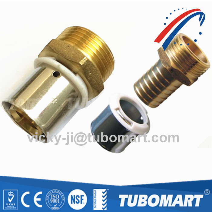 Factory Supply Brass Press Union Pex Fitting For Pex Crimping Tool With European Standard