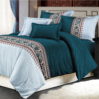 home textile sense bedding 4pcs microfiber luxury discount custom wedding bed sheet