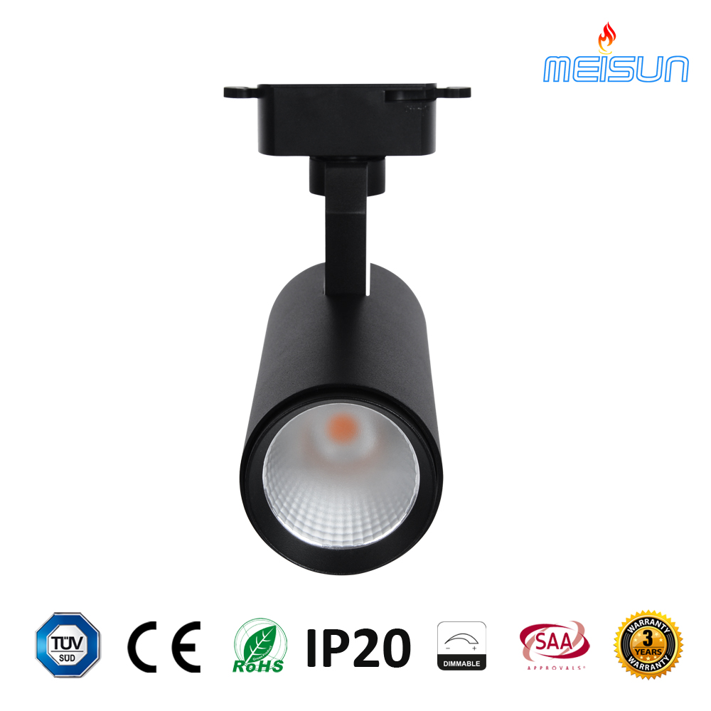 Wholesale Cqc Track Light Ccc Online Buy Best Wiring Lighting Fixture Factory Price 20w 30w Cob 2 3 4 Wires Commercial Black Colour
