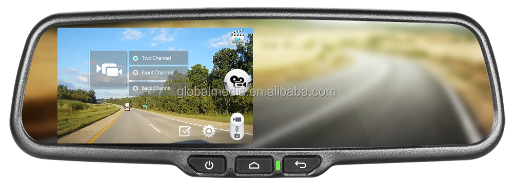 Germid 5inch andriod system navigation and dvr car rearview mirror monitor with rear camera display and special bracket