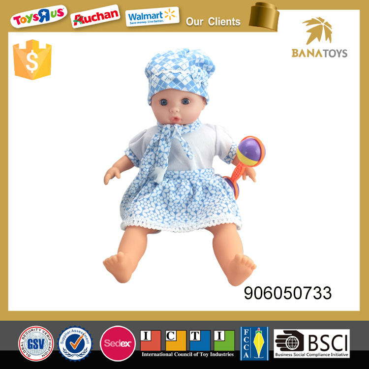 Funny product 16inch vinyl baby doll heads cloth doll