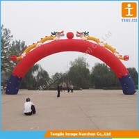 Durable windproof inflatable arch