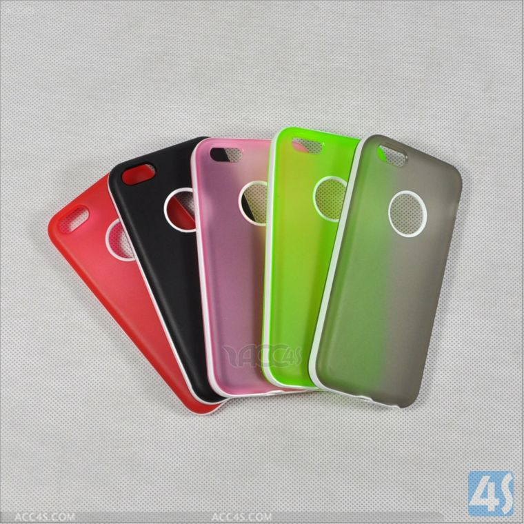 PC TPU Combo Case with Logo Hole for iPhone 5C P-IPH5CPCTPU003
