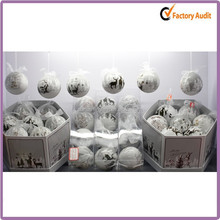 Paper Wrapped Christmas decoration 8cm Foam Ball