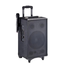 2017 big bass speakers,fm radio speaker with usb port,bluetooth headphones wireless portable trolley speaker