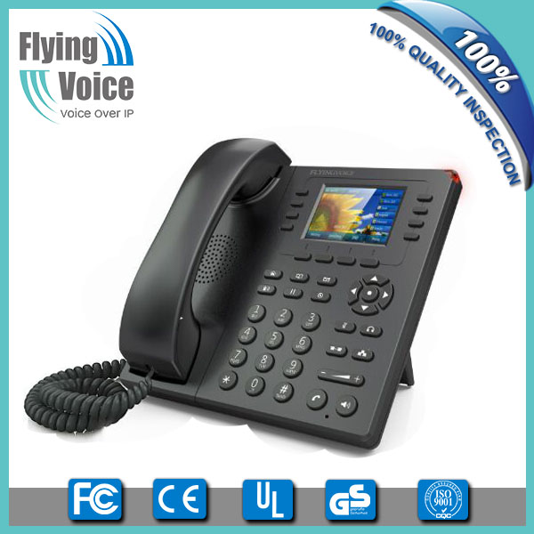 Factory price color LCD wifi voip desk phone FIP11W for small business