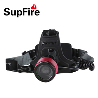 10W 800 lumens Supfire focusing rechargeable headlight HL01with 18650 battery
