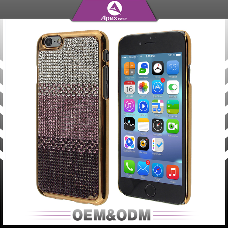High-quality protective PC + diamond mobile phone case universal phone case for iphone