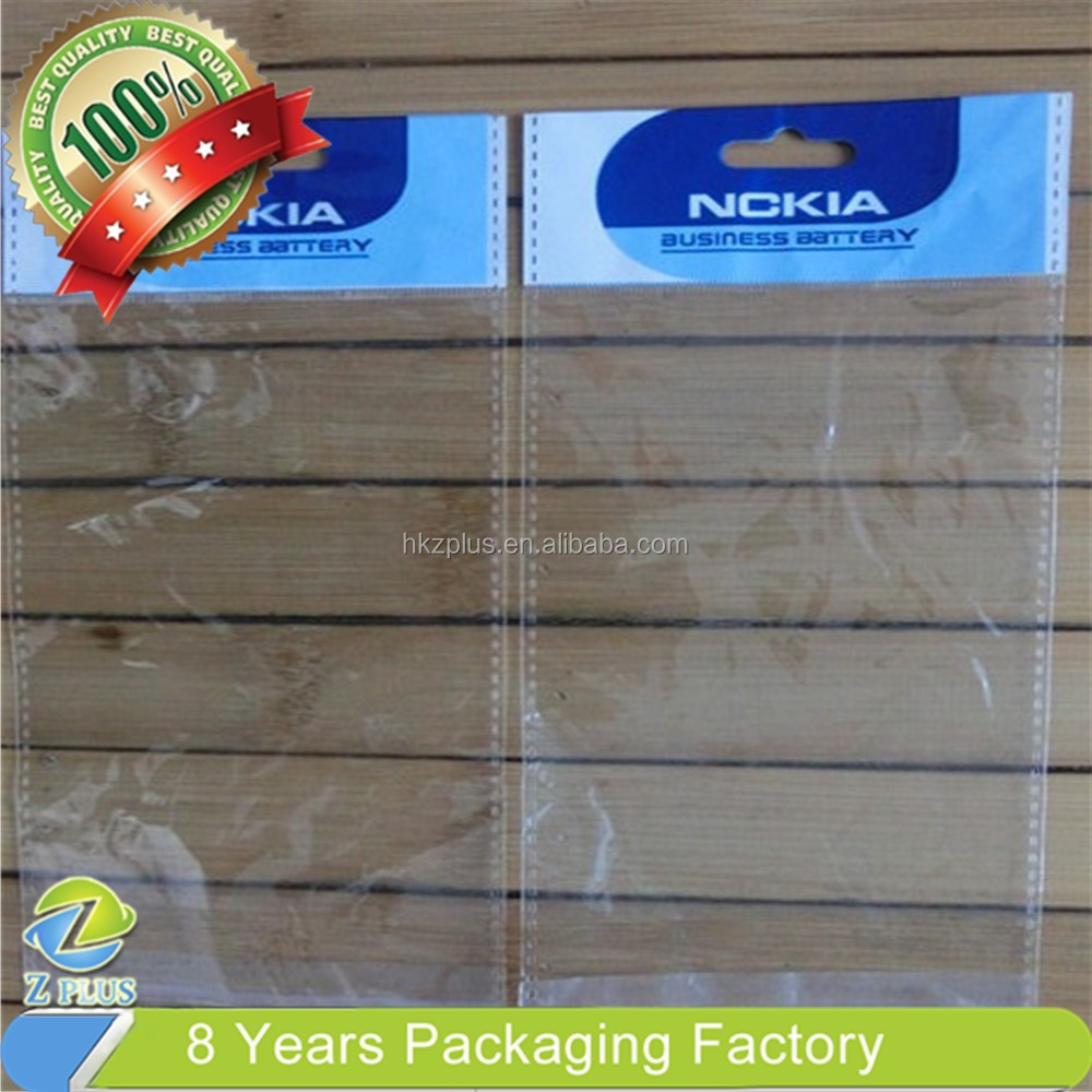 Stationery/toy packing printed top small clear plastic bags