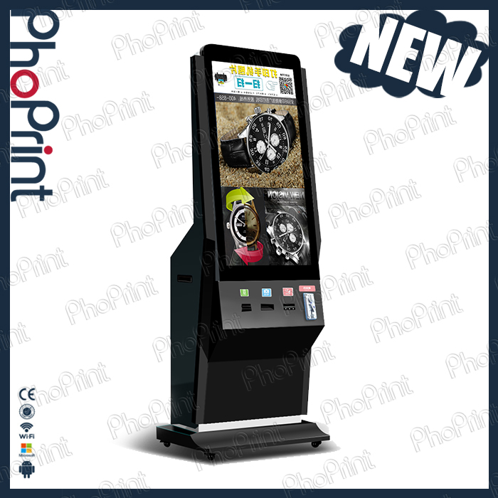 new products dollar bill acceptor vending printer floor kiosk phoprint wechat digital photo printing service station