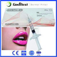 Godfiller Hyaluronic Acid Dermal Injecatable Filler Deep 1.0 ml for Anti aging, lip augmentation,reshape cheek, chin contours