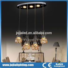 2015 Modern colored glass chandeliers for hotel bar Restaurant decoration lighting