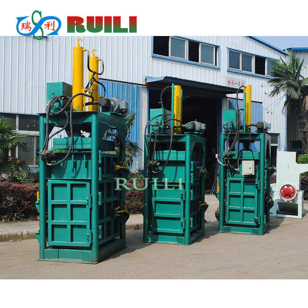 PP film PET bottle vertical hydraulic baler for plastic recycle