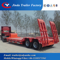 Best selling 3 Axles 60 tons lowboy truck/popularly lowboy trailers for sale in bc/lowboy trailers for sale