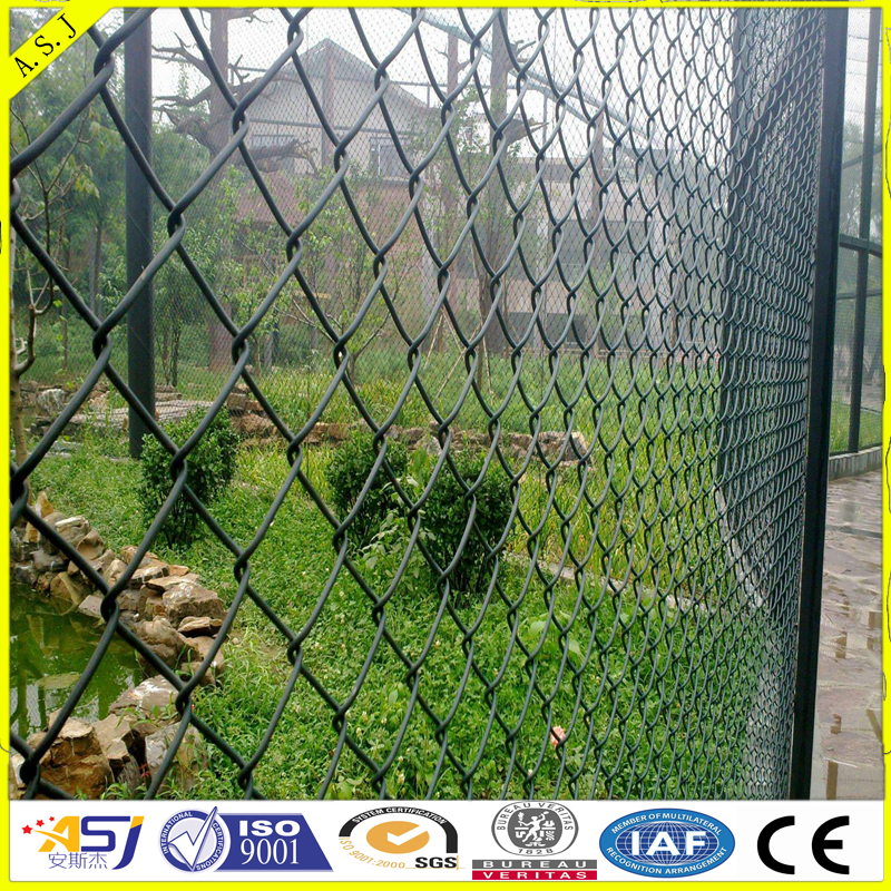 High quality galvanized chain link fence/garden pvc coated chain link fence