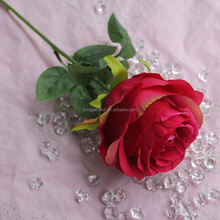 38cm Real Touch Rose Artificial Flower Single Stem Rose For Wedding Party Decoration
