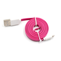 White Blue flat cable micro usb data flat cable fast charging