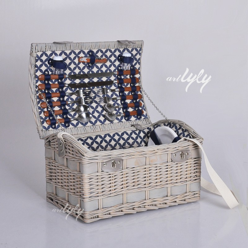 Wholesale bulk picnic baskets wicker willow baskets for 2