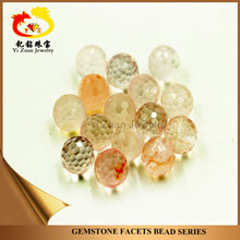 Chinese Faceted cut Natural Rose crystal semi-precious stones