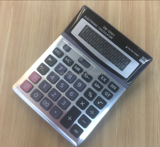 Dual power Power Source and 12 Digits Office Desk Top office Calculator
