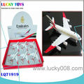 A380 6PCS DIE CAST PULL BACK PLANE WITH MUSIC AND LIGHT ALLOY TOYS FOR KIDS