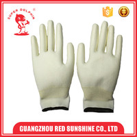 13 guage anti slip polyester shell PU gloves