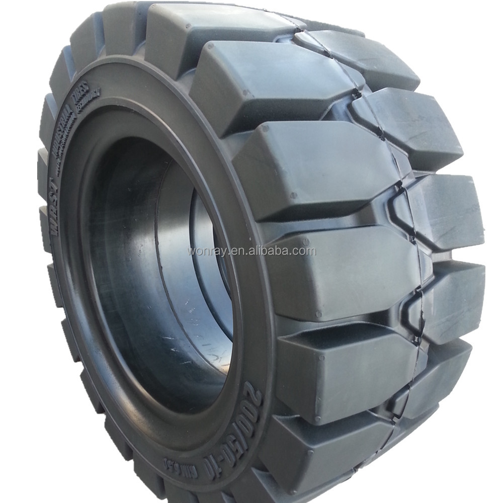 industrial solid forklift tires 200/50-10 140/55-9 6.00-15 6.00-9 9.00-20 10.00-20 300-15 from China