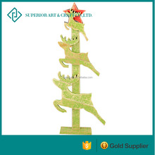Abstract Christmas Tree With Running Deers Crafts