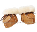 CX-SHOES-05A Fashion Real Sheep Skin Fur Funny Baby Shoes