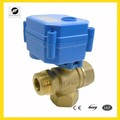 "CR01 CR02 12V 24V 1/2"" DN15 CWX-15 three way 3 way electric brass ball valve for water equipment"