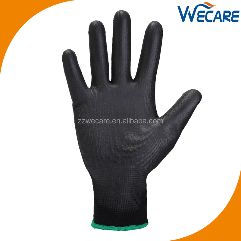 Black PU Palm Fit General Purpose Glove Work Safety Gloves