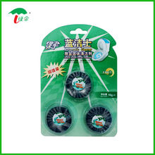 automatic Toilet bowl cleaner tablets flush blue block