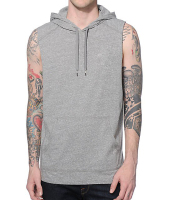 pretty good clothing brand sleeveless terry hoodie men clothing