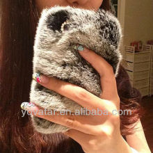 NEW!!!/ Bling Luxury Warm Soft Rex Rabbit Fur/Hair Protective Case/Skin/Back Cover Case For iphone 5 5S 4 4S