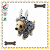 thicken new collection zebra pattern clothes of dog