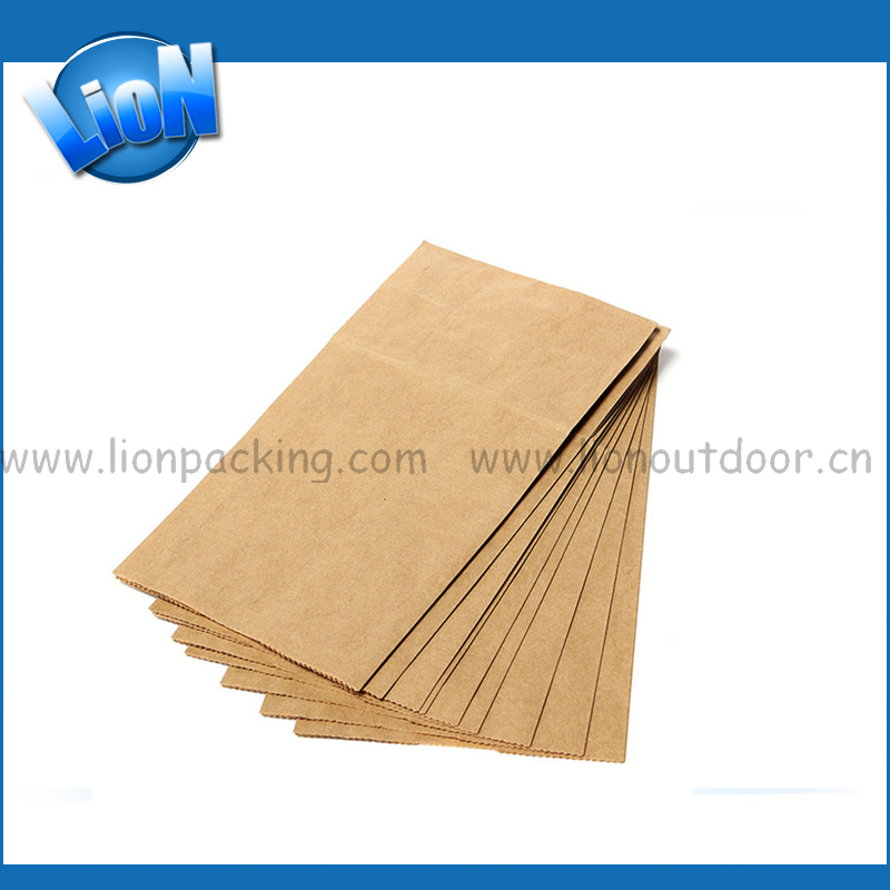 Eco Friendly Plain Brown Kraft Paper Bags With Handles