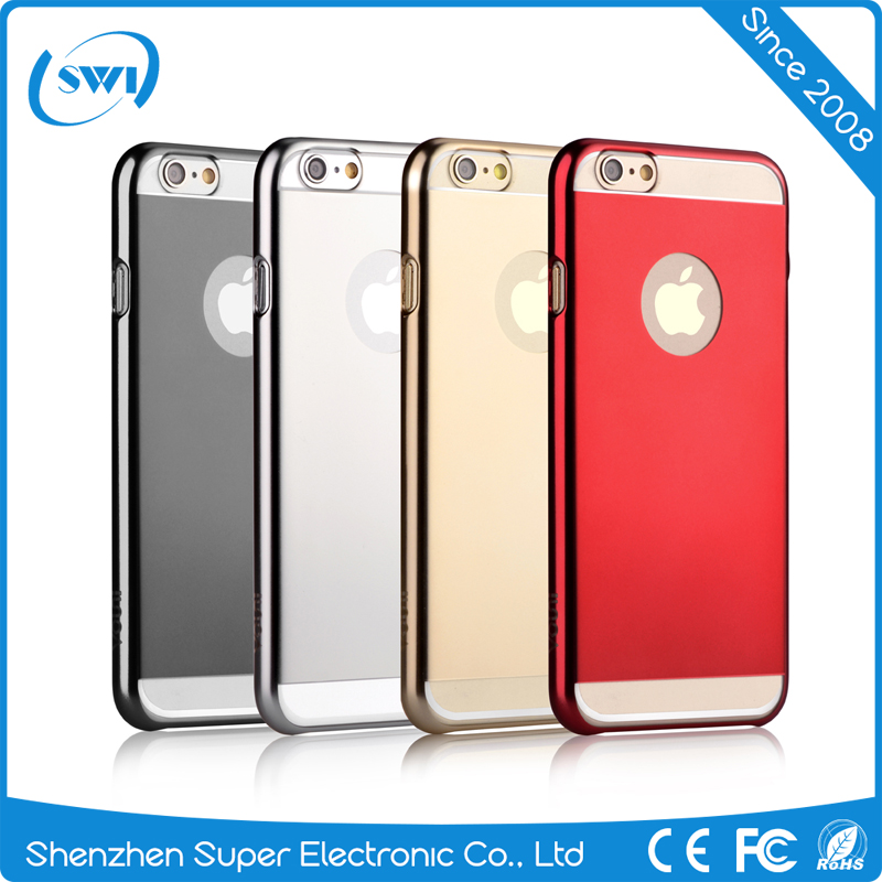 Free Sample Mobile Phone Mirror Electroplating Back Cover Anti-scratch Hard PC Protective Case for iPhone 6/6s Plus