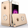 Brand Luxury 3D Aluminum Metal Ring Holder Stand Phone Cases For iPhone 6 6s Plus 7 7plus Hard Kickstand Back Cover Case