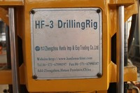 Selling well all over the world HF-3 drilling rig machine, drilling rig working