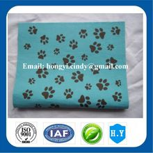 Dog foot printed 100%rayon nonwoven fabric soft touch and super absorbent pet bath towels, dog bath towels