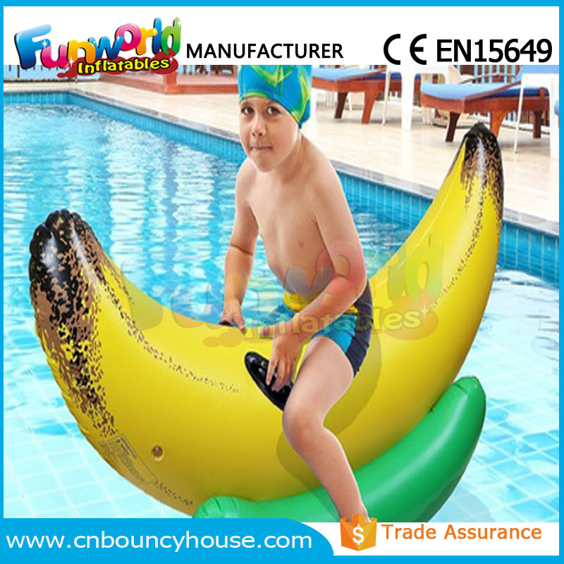 Pool floating water toys water riding giant inflatable banana