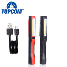Portable Handheld Flashlight Magnetic Rechargeable LED COB Work Light